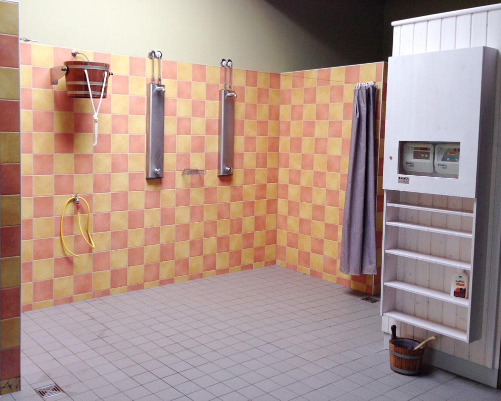Saunabereich Dusche