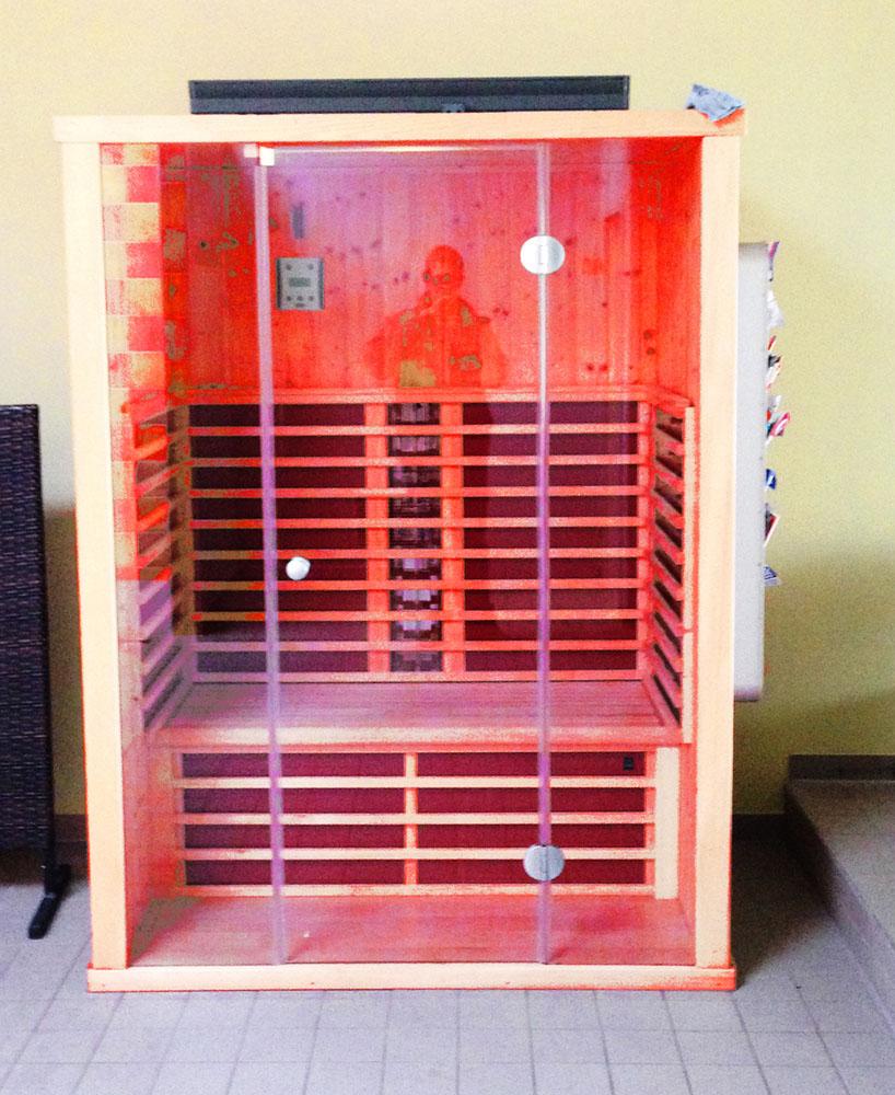 Saunabereich Rotlichtkabine