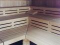 Saunabereich Sauna von Innen